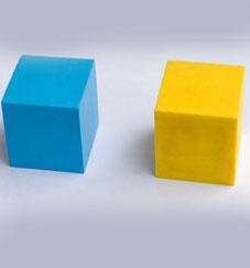 正方形硅胶块,红色方形硅胶