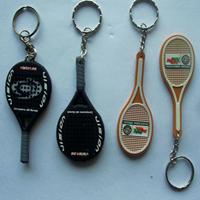 硅胶饰品|网球拍钥匙扣